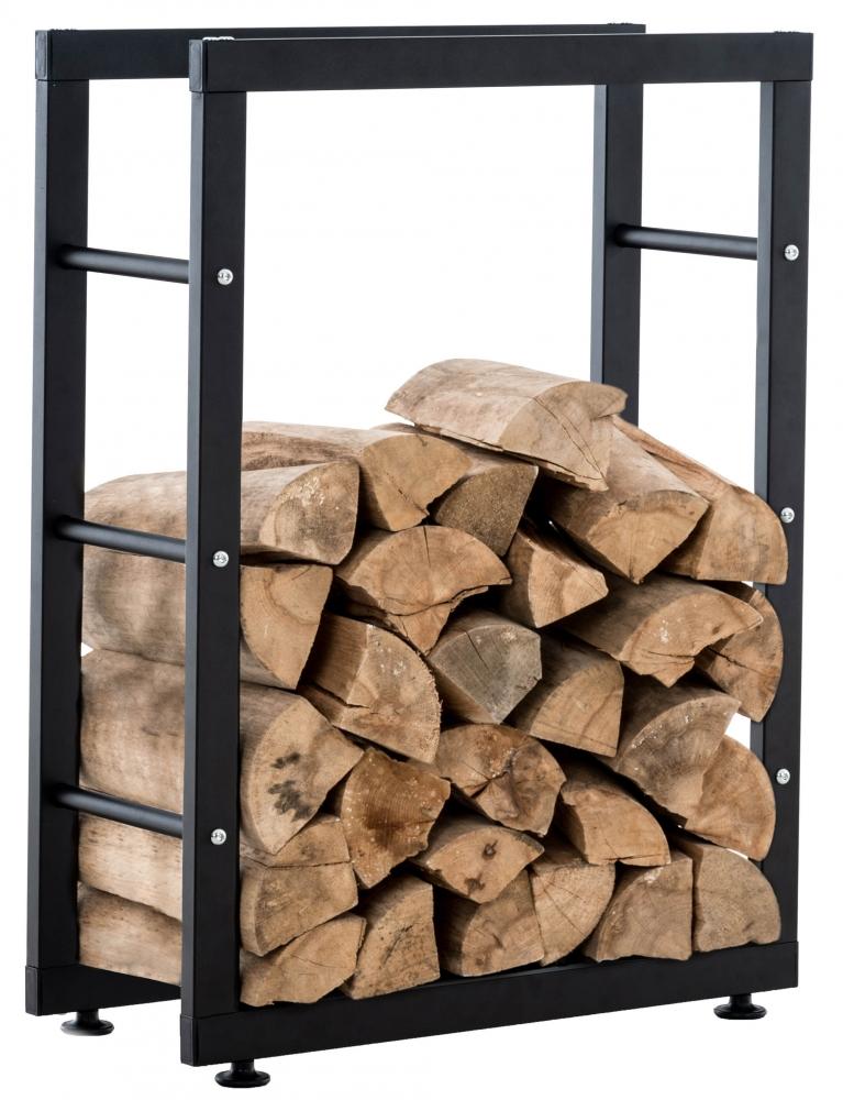 Stojan na dřevo Keri, 100X125 cm, černá