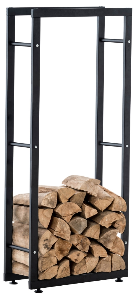 Stojan na dřevo Keri, 40x125 cm, černá