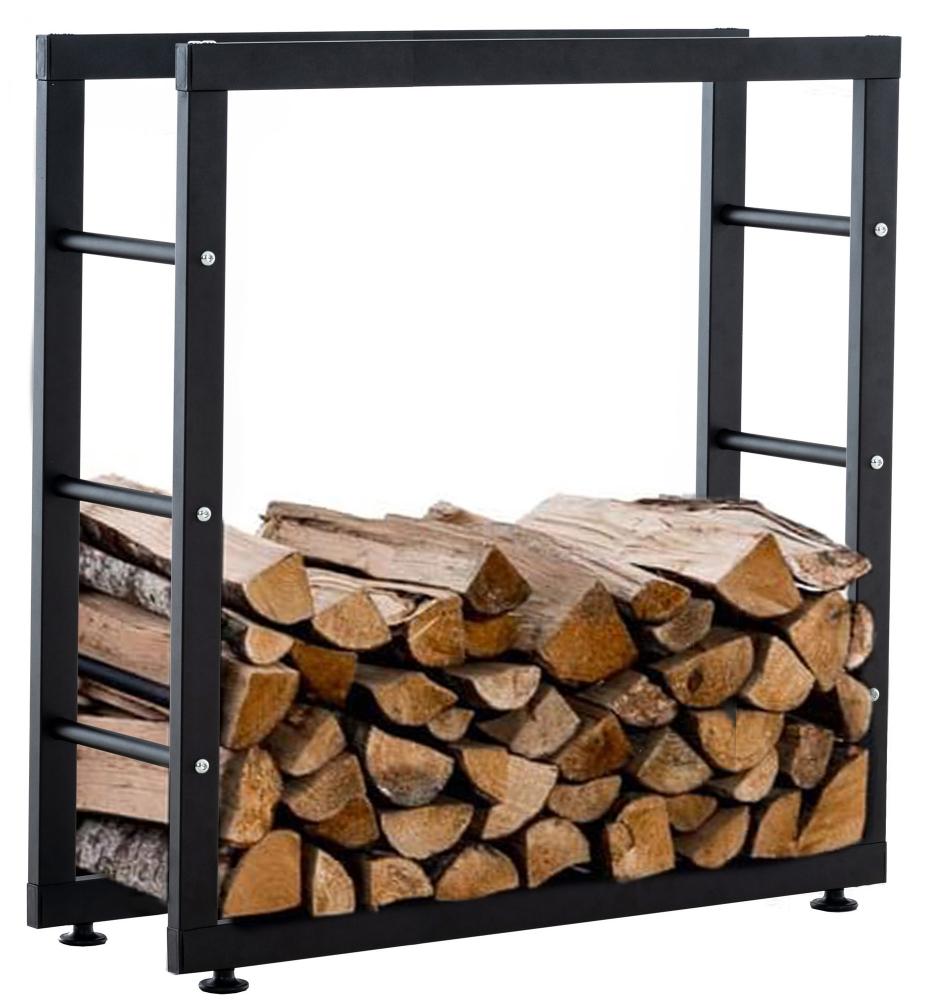 Stojan na dřevo Keri, 80x80 cm, černá