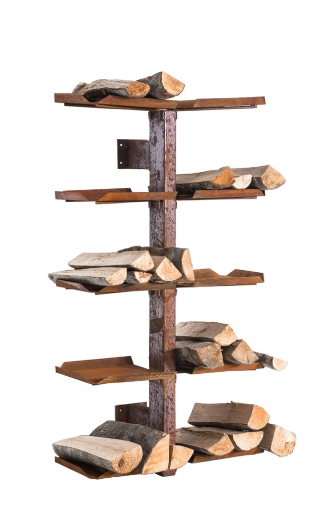 Stojan na dřevo Madera, 25x60x100 cm, rez