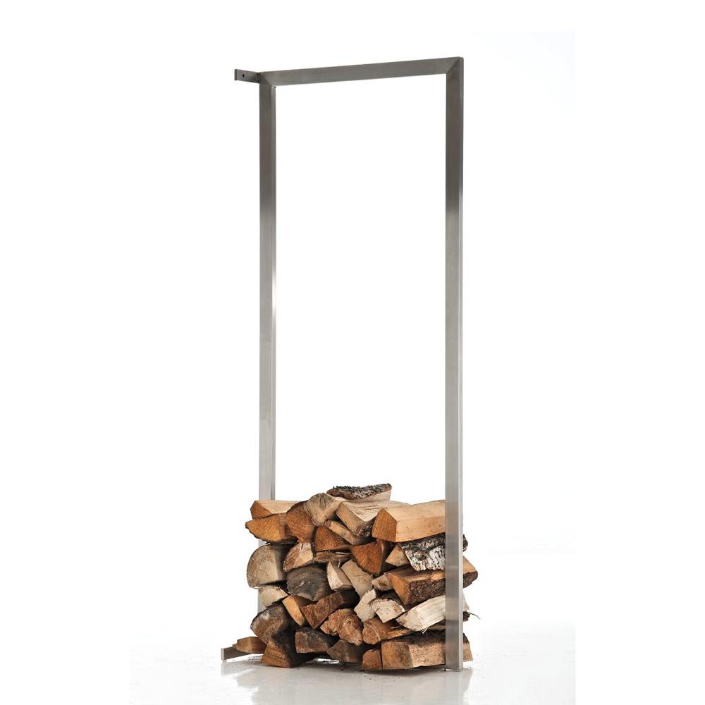 Stojan na dřevo nástěnný Muren, 60x100 cm, nerez