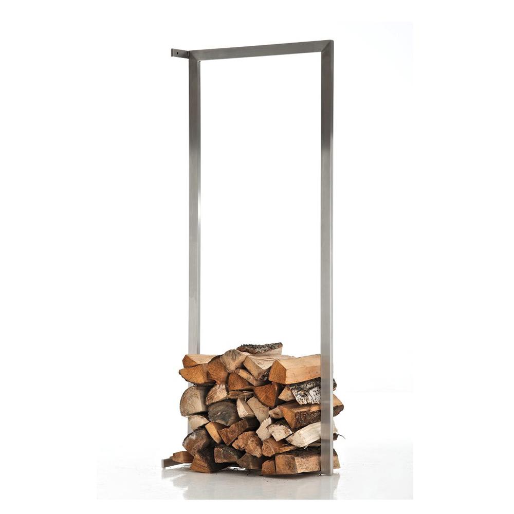 Stojan na dřevo nástěnný Muren, 80x100 cm, nerez