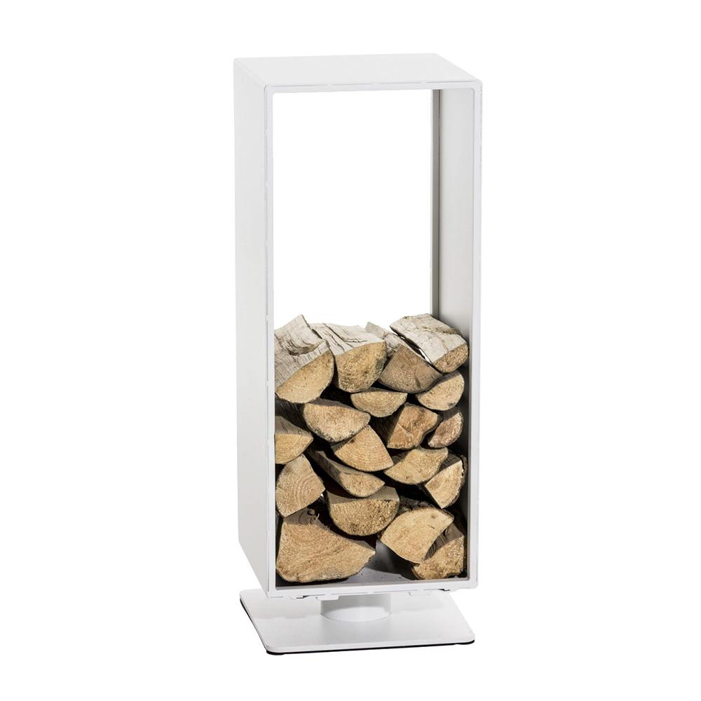 Stojan na dřevo Roma, 30x60 cm, matná bílá