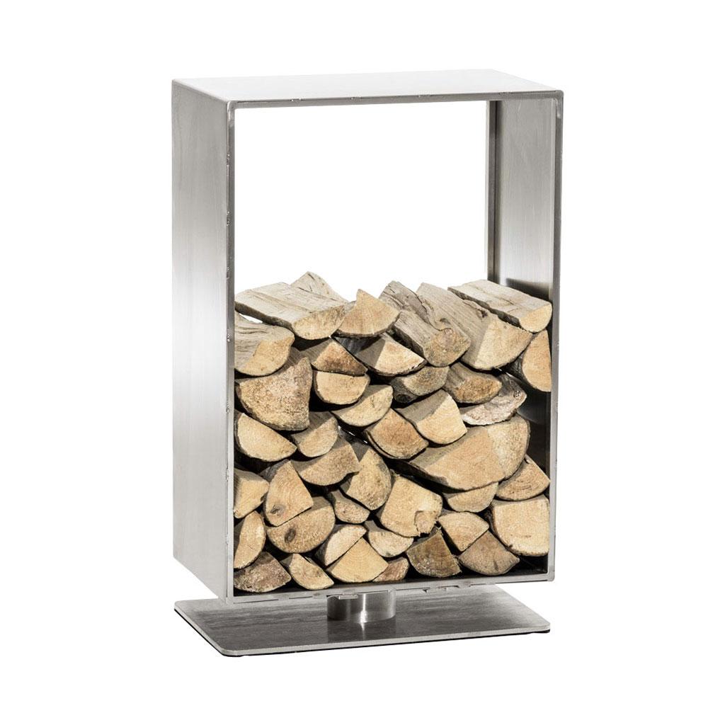 Stojan na dřevo Roma, 50x100 cm, nerez