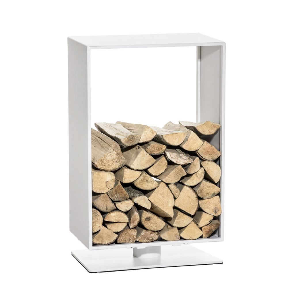 Stojan na dřevo Roma, 50x60 cm, matná bílá