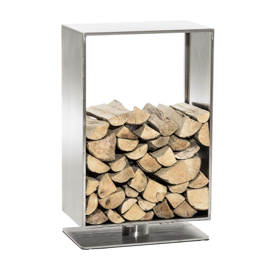 Stojan na dřevo Roma, 50x60 cm, nerez