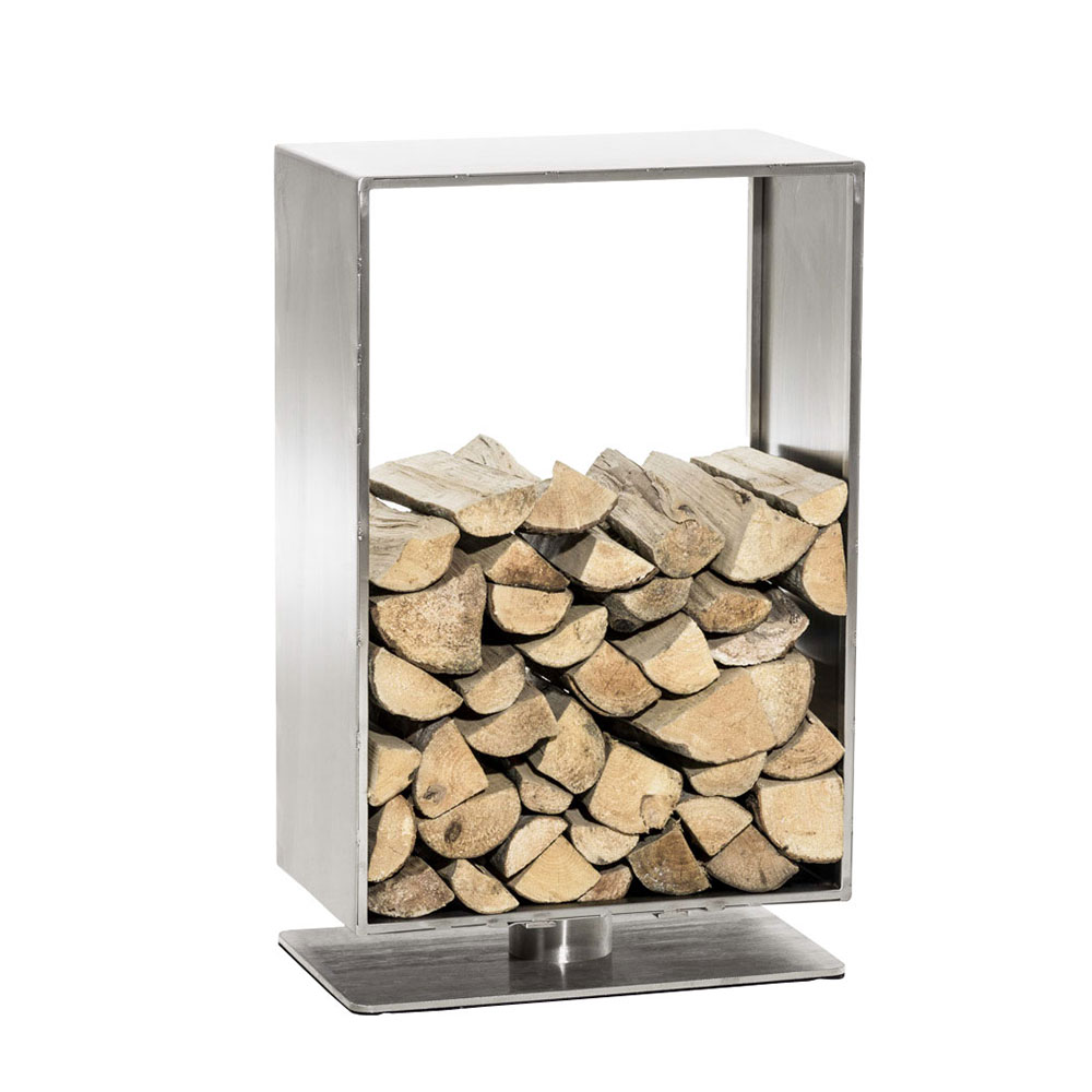 Stojan na dřevo Roma, 50x80 cm, nerez