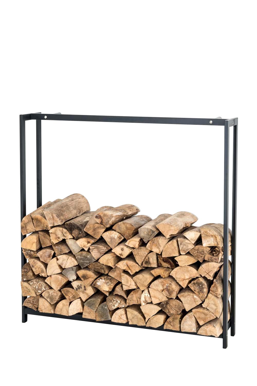 Stojan na dřevo Skog, 125x120 cm, matná černá