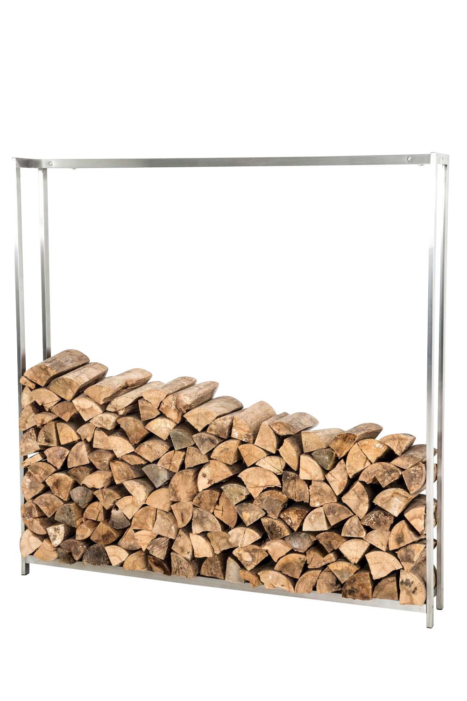 Stojan na dřevo Skog, 125x120 cm, nerez