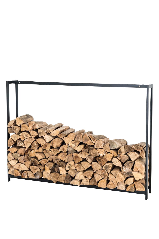 Stojan na dřevo Skog, 125x145 cm, matná černá
