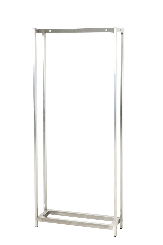 Stojan na dřevo Skog, 125x45 cm, nerez