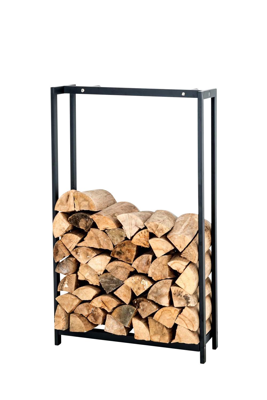 Stojan na dřevo Skog, 125x95 cm, matná černá
