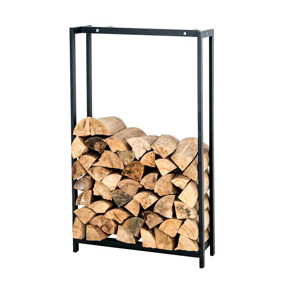 Stojan na dřevo Skog, 150x120 cm, matná černá