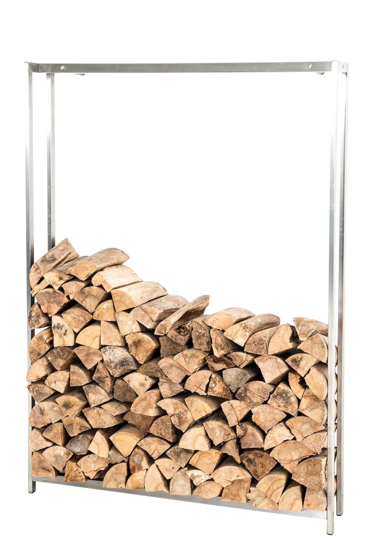 Stojan na dřevo Skog, 150x120 cm, nerez