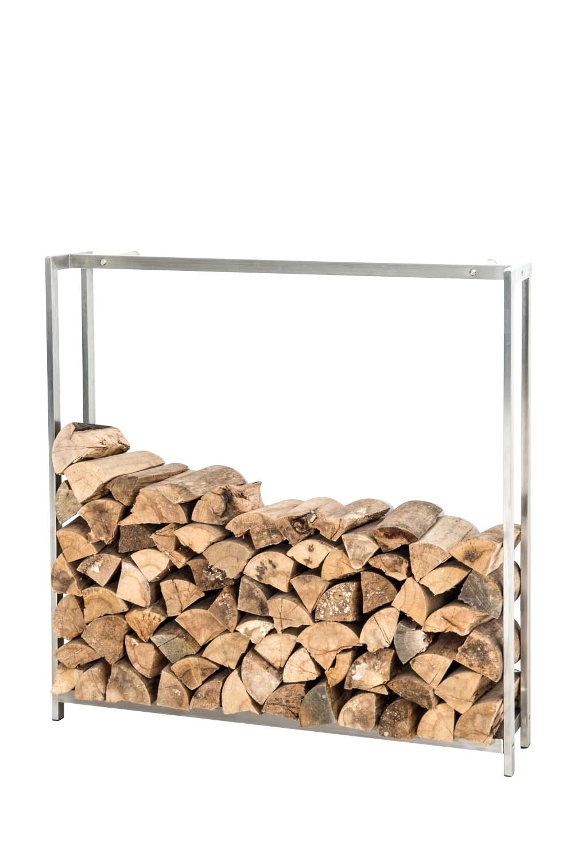 Stojan na dřevo Skog, 150x145 cm, nerez