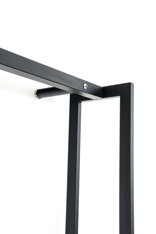 Stojan na dřevo Skog, 150x170 cm, matná černá
