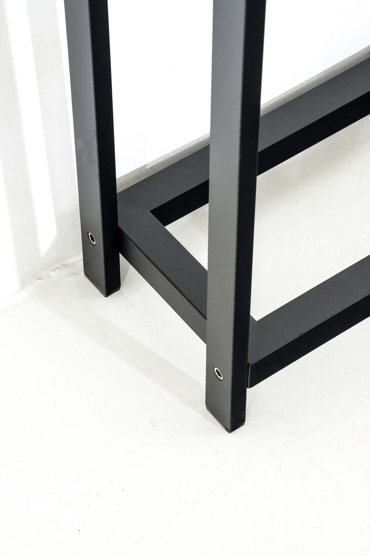 Stojan na dřevo Skog, 150x45 cm, matná černá