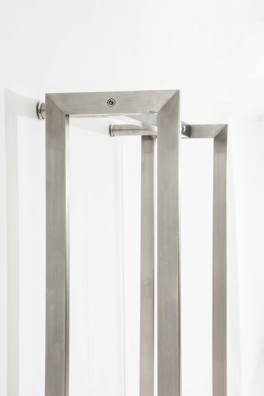 Stojan na dřevo Skog, 150x45 cm, nerez
