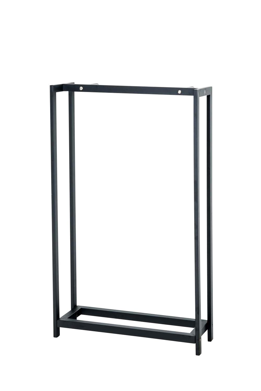 Stojan na dřevo Skog, 150x70 cm, matná černá