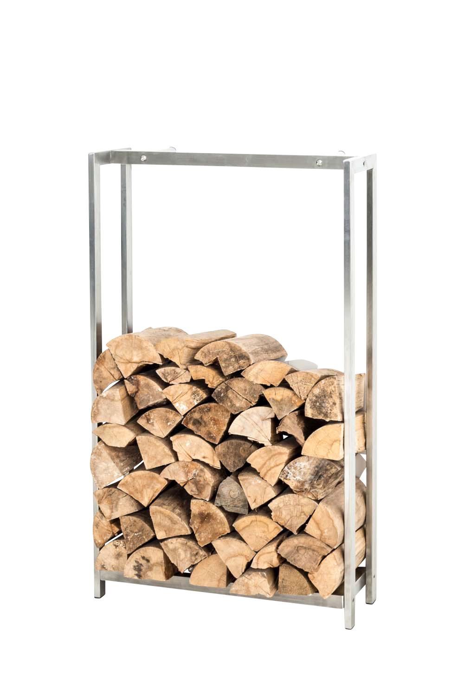 Stojan na dřevo Skog, 150x70 cm, nerez