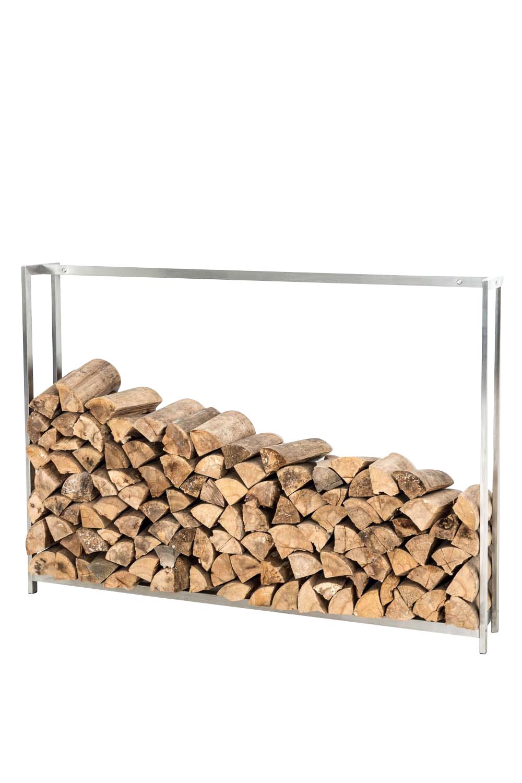Stojan na dřevo Skog, 175x195 cm, nerez