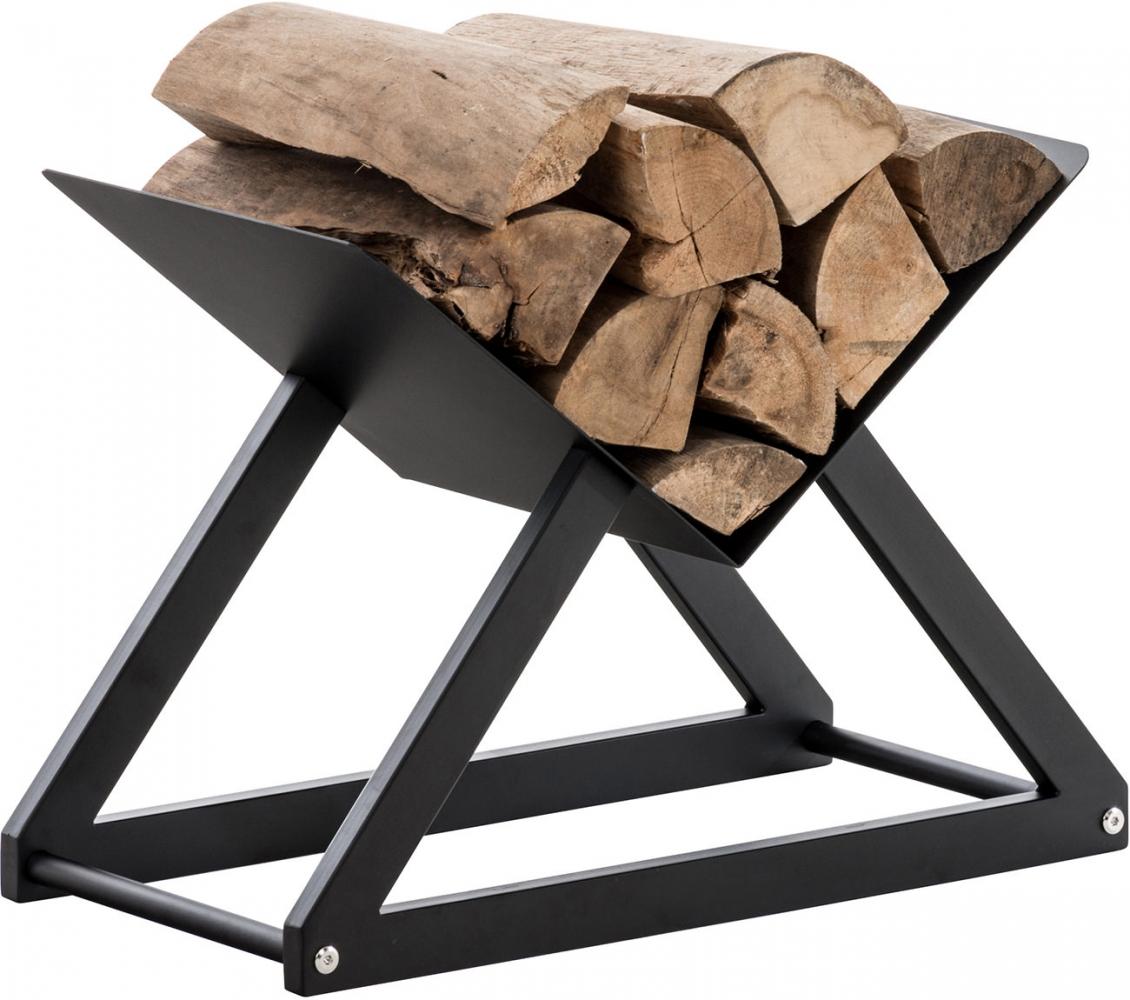 Stojan na dřevo Winter, 52x30 cm, černá