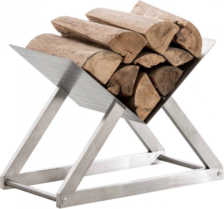 Stojan na dřevo Winter, 60x30 cm, nerez