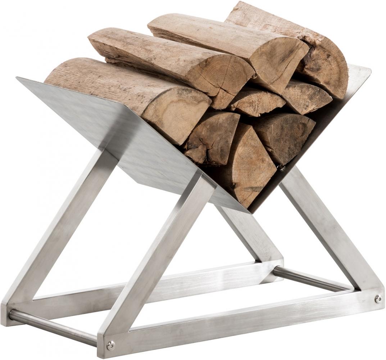 Stojan na dřevo Winter, 80x30 cm, nerez