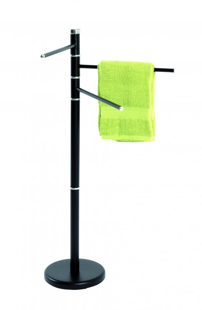 Stojan na ručníky Herme, 89 cm, černá