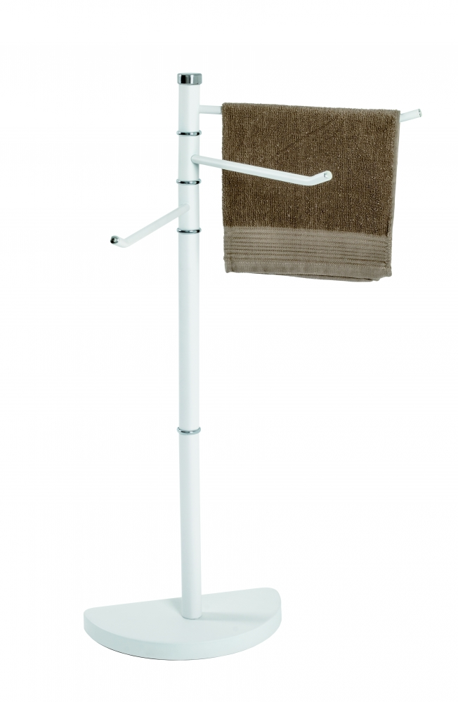 Stojan na ručníky Hermes, 89 cm, bílá