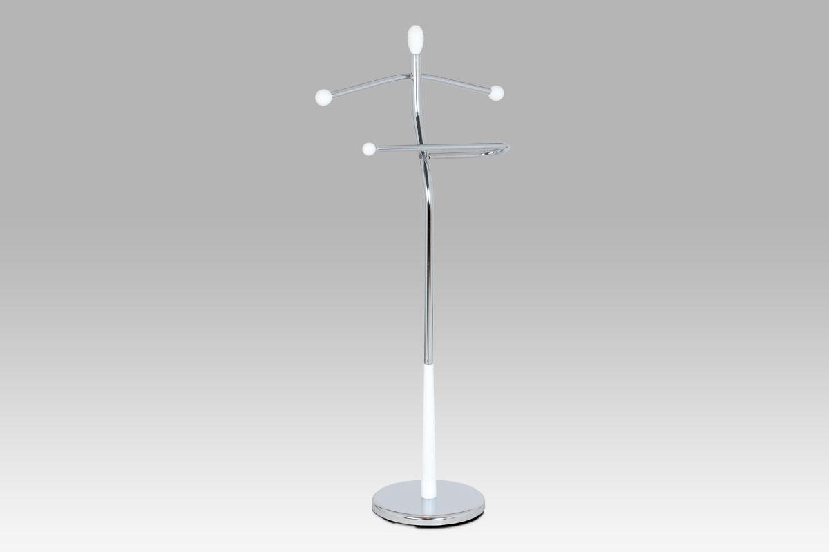 Stojan na šaty / němý sluha Lowell, 118 cm, bílá