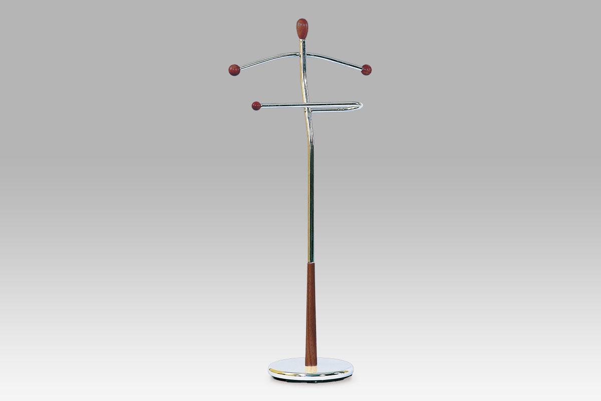 Stojan na šaty / němý sluha Lowell, 118 cm, třešeň
