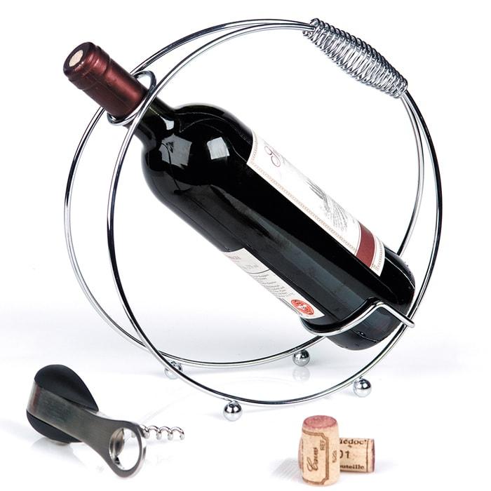 Stojan na víno Spring, 25 cm, chróm, chróm