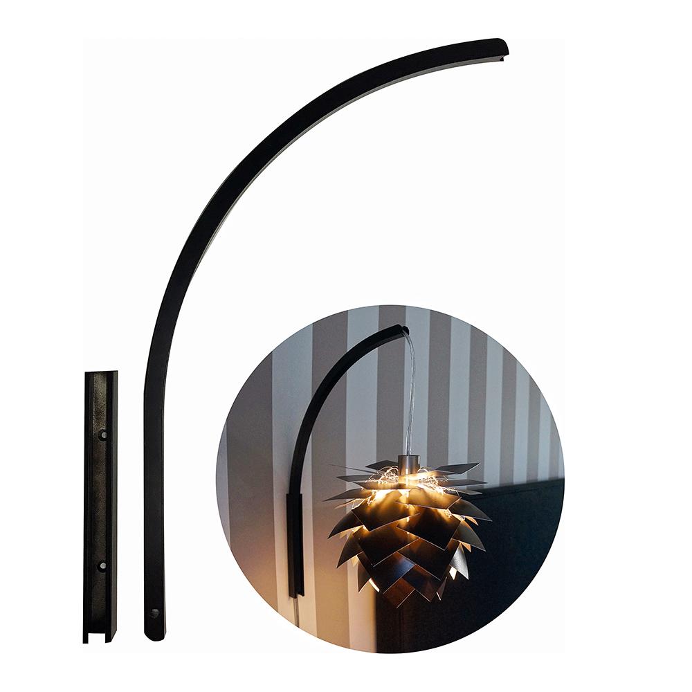 Stojan pro nástěnnou lampu Wall it, 39 cm, černá