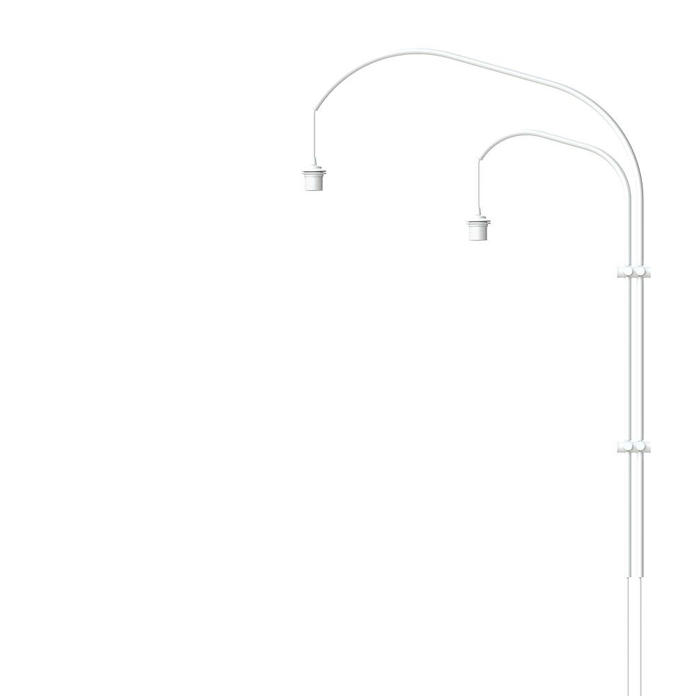 Stojan pro nástěnnou lampu VITA Willow Double, bílá