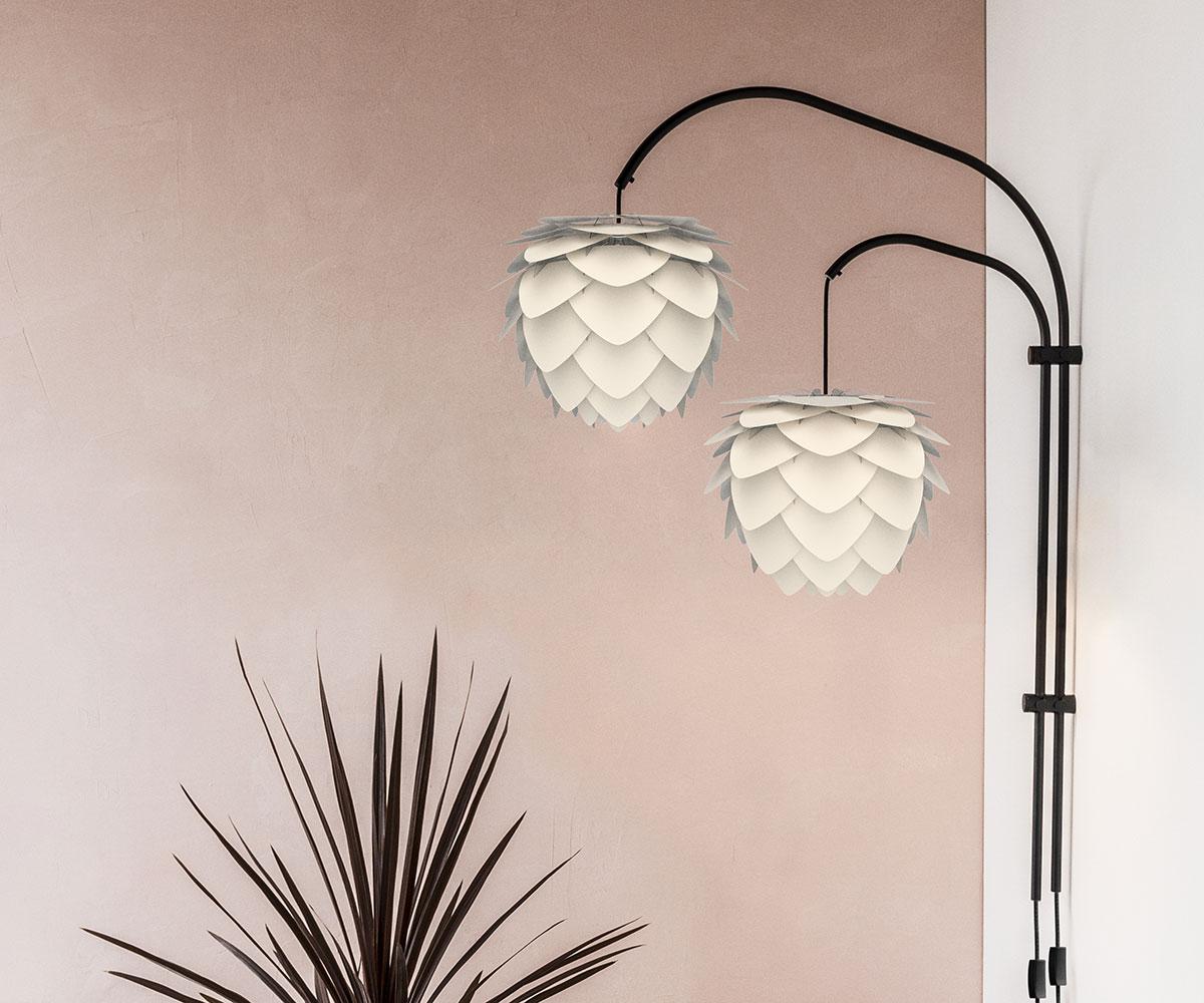 Stojan pro nástěnnou lampu VITA Willow Double, černá