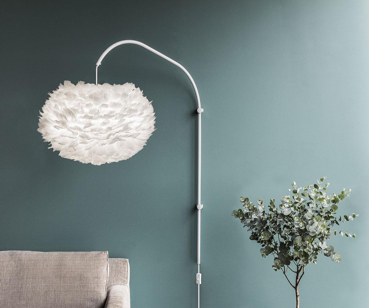 Stojan pro nástěnnou lampu VITA Willow Single, bílá