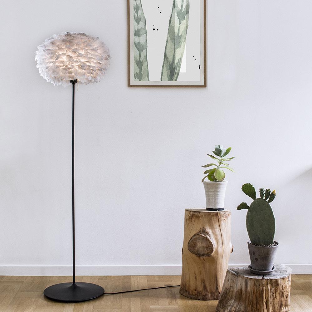 Stojan pro stojací lampu VITA Champagne, 140 cm, černá