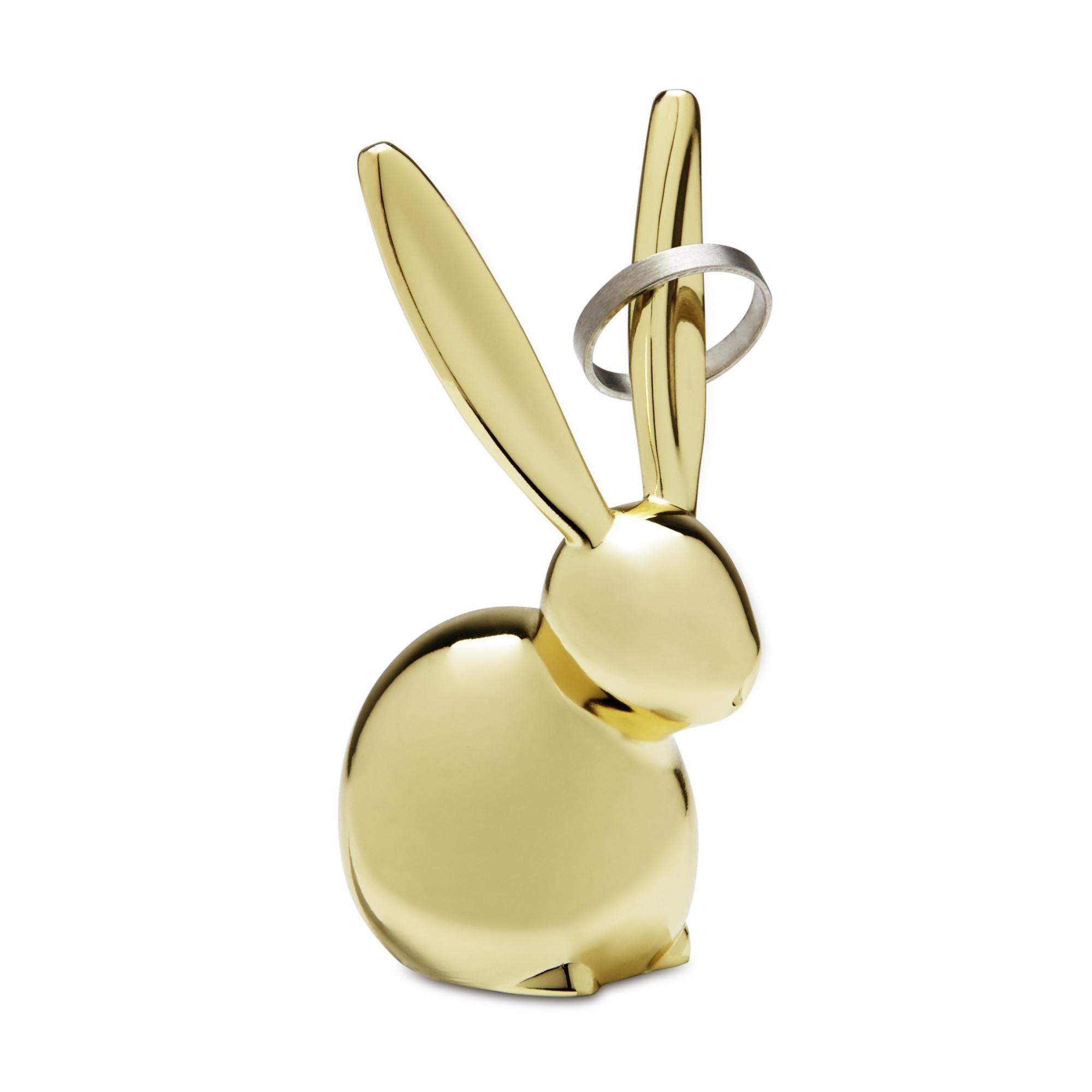 Stojánek na šperky Zulu Zajíček, 8 cm, mosazná