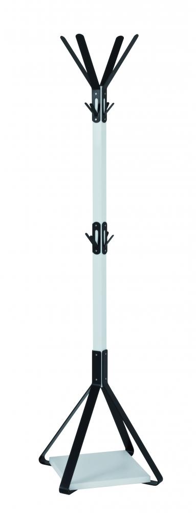 Stojanový věšák Aron, 178 cm, černá/bílá