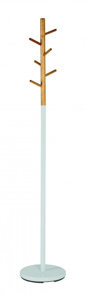 Stojanový věšák Dylan, 175 cm, bílá/bambus