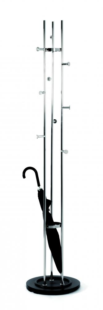 Stojanový věšák Filipe,183 cm, stříbrná