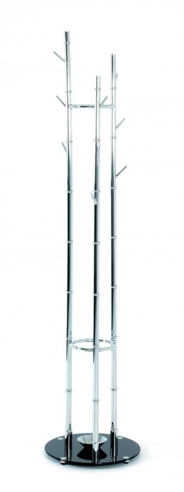 Stojanový věšák Flaby, 183 cm, stříbrná