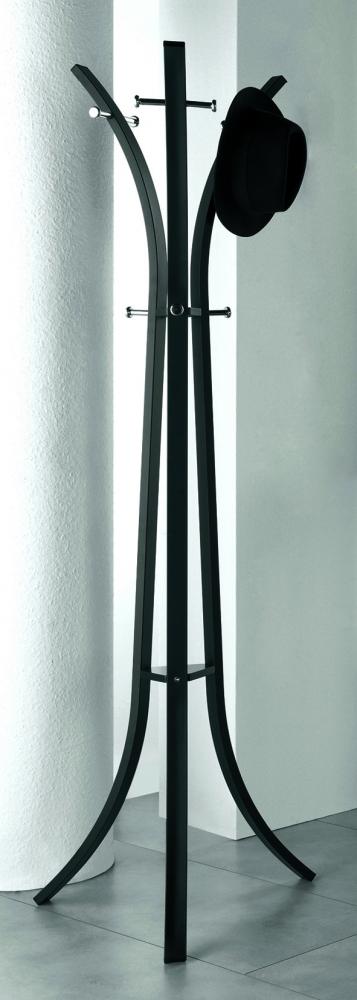 Stojanový věšák Freddy, 177 cm, černá