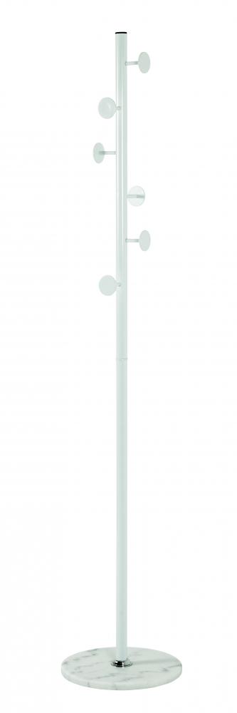Stojanový věšák Ignatius, 180 cm, bílá
