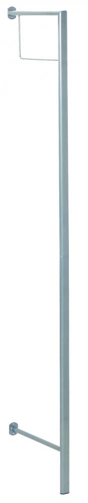 Stojanový věšák Rhett, 181 cm, stříbrná