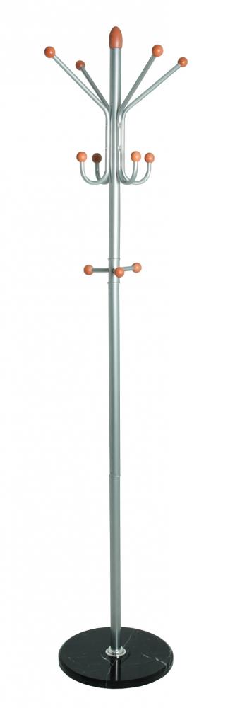 Stojanový věšák Spade, 184 cm, nerez / černá