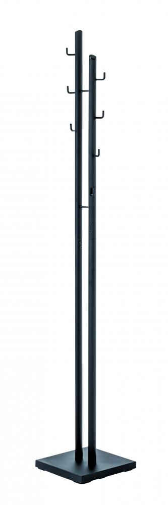 Stojanový věšák Vilach, 176 cm, černá