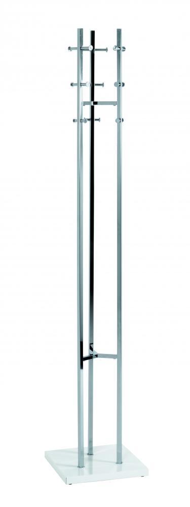 Stojanový věšák Viliem, 183 cm, stříbrná