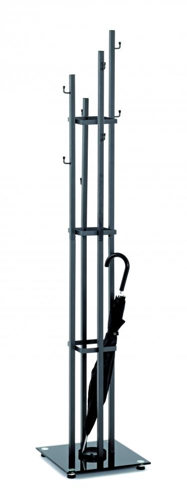 Stojanový věšák Vilson, 183 cm, černá